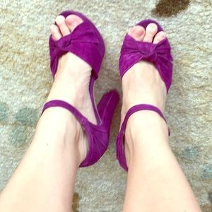 Steve Madden Get Real Chunky Purple Heels